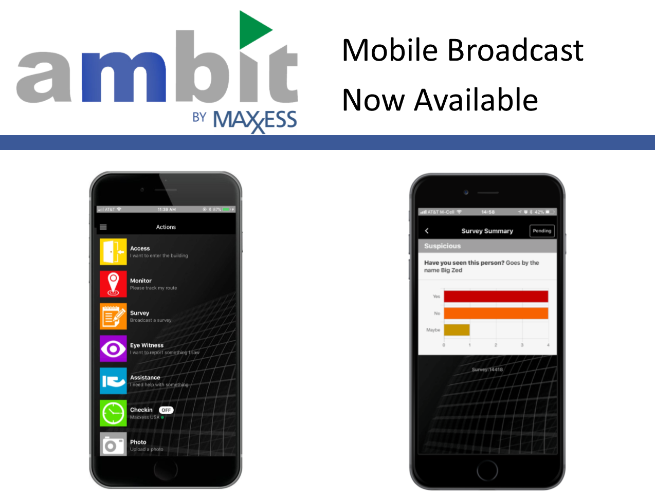 Maxxess Ambit users can now broadcast from their smartphones