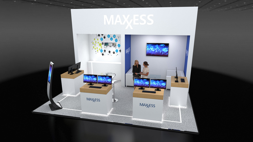 Maxxess exhibit booth at IFSEC 2019