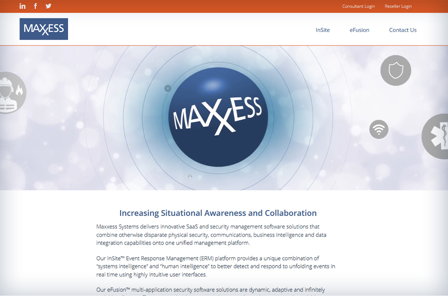 Home Page of the new Maxxess Website